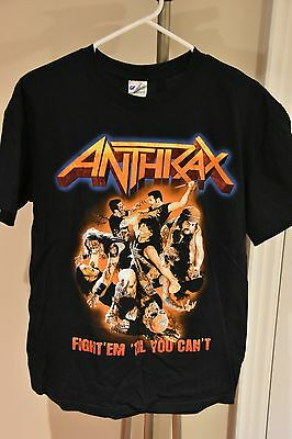 Anthrax - Fight Em' Till You Can't - 2011 Tour Shirt (Size M) Good Condition