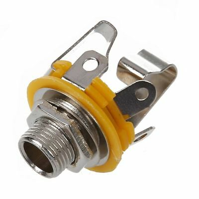 """Stereo Output 1/4"""" 6.35mm Jacks Socket For Electric Guitar Switch Repairs O1N3"""