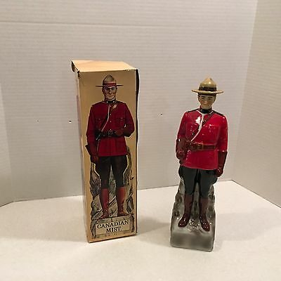 Canadian Mist Whiskey Decanter Royal Canadian Mounted Police with box. Mountie.