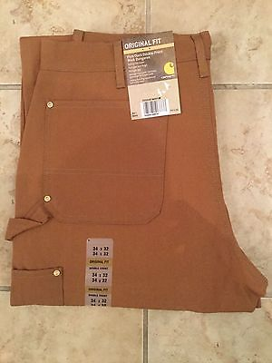 New Carhartt Double Front Work Pants Brown B01