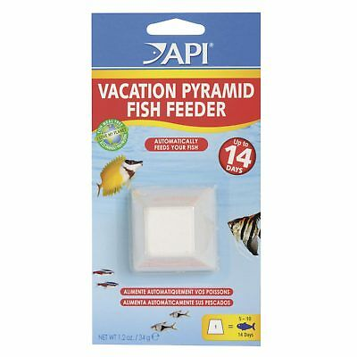 API Vacation Pyramid Fish Feeder 14 Days Automatic Fish Aquarium Feeding Block