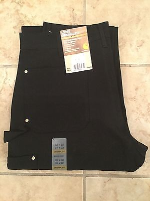 New Carhartt Double Front Work Pants Black B01