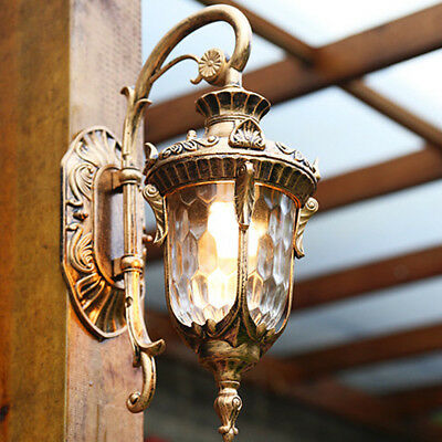 Outdoor Wall Lights Glass Wall Sconce Lobby LED Lamp Brown Chandelier Lighting