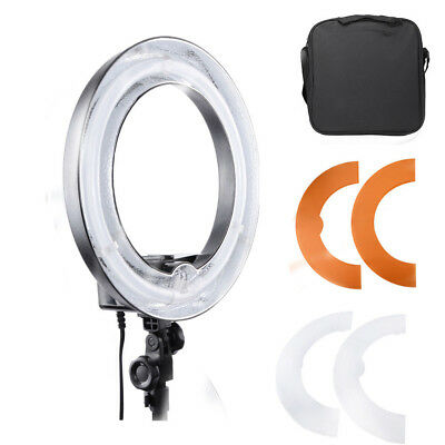 "14"" Fluorescent 45w Dimmable Ring Light w/ Bag Photo Video Studio Portrait Light"