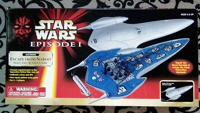 Star Wars Royal Starship Escape from Naboo Game TIGER Electronics Neu OVP