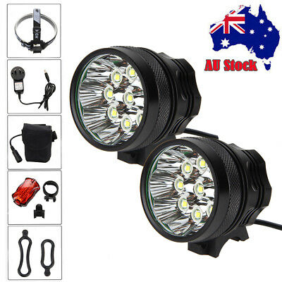 Powerful 25000Lm 9x XM-L T6 LED Waterproof Head Bicycle Lamp Bike Light 6*18650