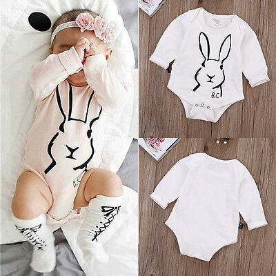 Casual Toddler Newborn Baby Boy Girls Clothes Bodysuit Jumpsuit Romper Outfits