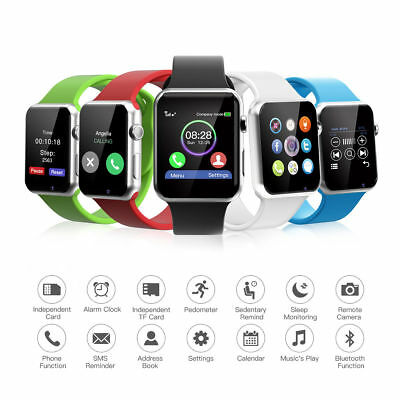5 Colors A1 Smart Watch Bluetooth Waterproof GSM SIM Cam For Android iOS Phone