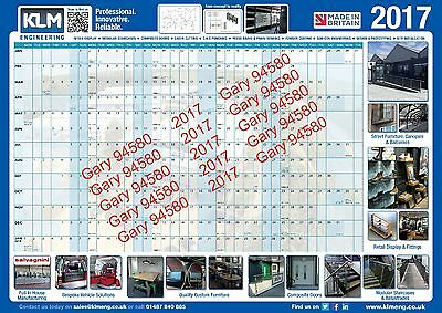 2017 Year Wall Planner Email E-Planner For Work/home/office Unmounted Calendar