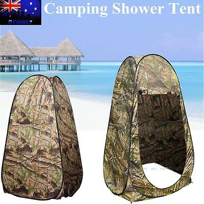 New Folding Pop Up Camping Shower Toilet Tent Change Room Shelter Camouflage