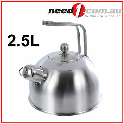 BOLLITORE CON FISHIETTO Whistling Tea Kettle Stainless Steel 2.5L