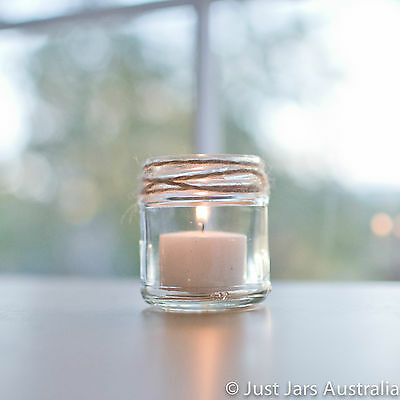 35 mini 100ml glass jars - No lids - Perfect size for tealight candles!