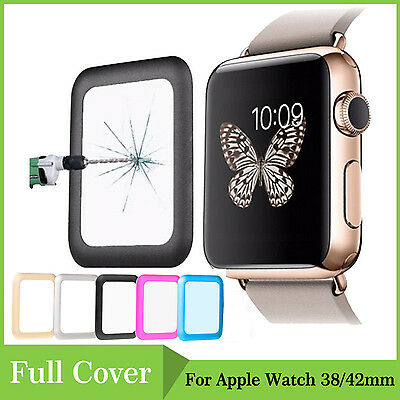 Full Premium Tempered Glass Screen Protector For Apple Watch iWatch 38mm & 42mm
