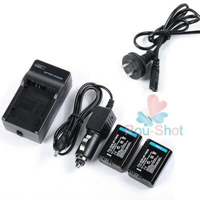2PCS 1080mAh Battery +Charger For Sony NP-FW50 A6000 A5000 A55 NEX-7 5N 5T 5R
