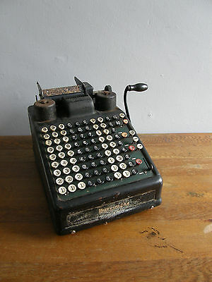 Burroughs Hand Cranked Antique Adding Machine For Display Purposes,uk Free Post