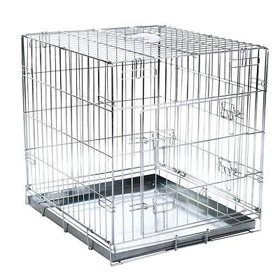 Dog Cage Double Door Car Transport Collapsible Folding SIZES: S - M - L - XL