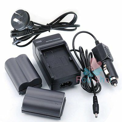2Pcs BP-511 2000mAh Battery Charger Fr Canon EOS 5D 10D 20D 30D 40D 50D D60【AU】