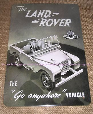 vintage style LAND ROVER SIGN Series 1 NEW advert wall art 4WD garage army car