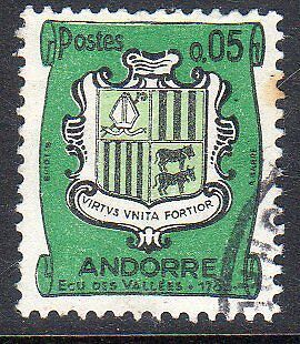 French Andorra. Edifil 166, 167,171. Fine used.