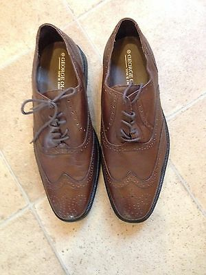 Mens George Oliver Brown  Leather Brogues Shoes. UK Size 8