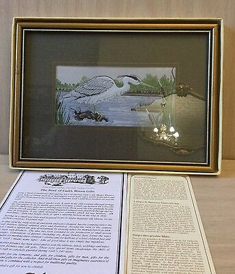 Cashs Silk Grey Heron Framed And Boxed From Collectors Series