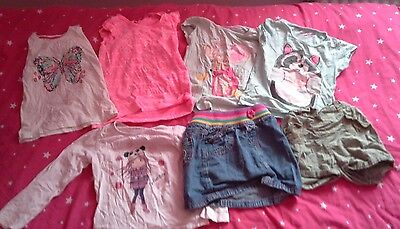 girls clothes bundle 5-6years (tops,skirt,shorts and onesies)