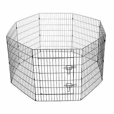 Puppy Pen Outdoor Adjustable Hinged Steel Fold Flat VARIOUS SIZES