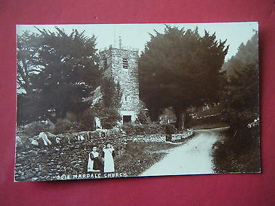 Mardale: Girls Outside Mardale Church - Scarce Lowe Real Photo Postcard!