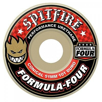 Spitfire Formula Four Conical 101a Skateboard Wheels - 54mm