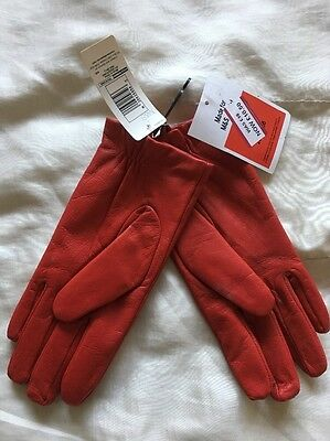 Leather Driving Gloves Red M&S