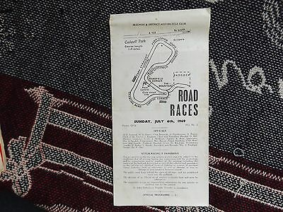 1969 Cadwell Park Programme 6/7/69 - Road Races - Skegness & District Club