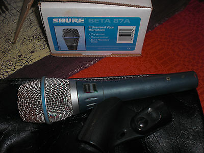 Microphone à main supercardioïde Shure beta87A (statique)