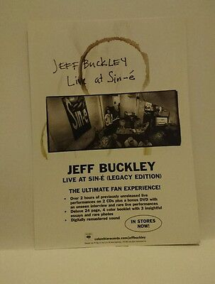 Jeff Buckley Live At Sin-É (Legacy Edition) Promotional Card
