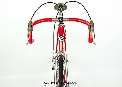 Rossin Record Red Classic Vintage Bicycle Steel Campagnolo
