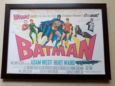 Batman: The Movie (1966) poster framed print ver 1