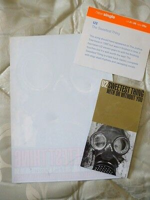 U2 Sweetest Thing Mini CD and Promo Shop Stickers Japanese Release
