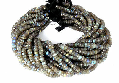 Genuine 1 Strand Natural Blue Fire Labradorite Loose Gemstone Faceted Beads Bead
