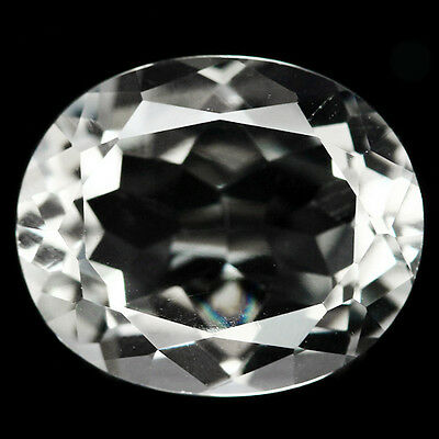 4.33 Ct Aaa! Natural! White Brazilian Amethyst Oval