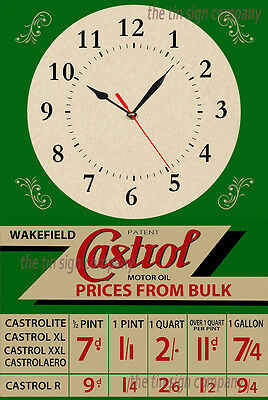 Castrol Wall Clock. Great For Garage, Mancave Etc. Gift For Any Petrol Head