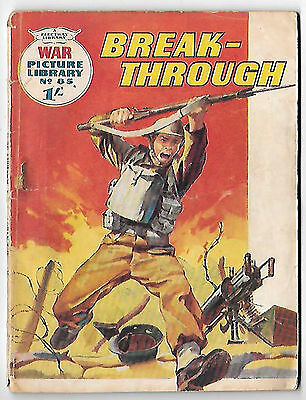 """War Picture Library 85 (1961) """"Break-Through"""" - mid to high grade copy"""