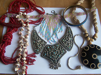 mixed lot of used costume jewellery