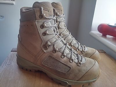 Original British Army Issue Leather Lowa Desert Combat Boots Size 9.5 UK #541