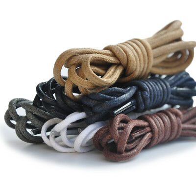 Waxed Cotton Shoe Laces Round Thin Dress Shoelaces Coloured Bootlace 3mm Wide