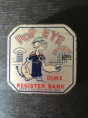 Vintage Popeye Dime Register Bank