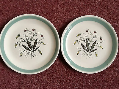"Two Alfred Meakin/Crown Goldendale 'Hedgerow' Dessert Plates - 8"" Dia."