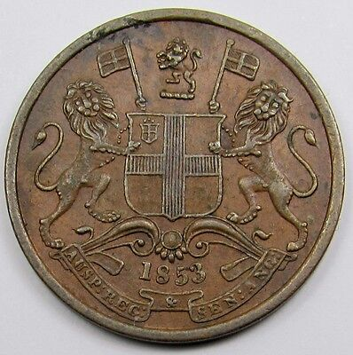 EAST INDIA COMPANY - 1/2 PICE COIN dated 1853