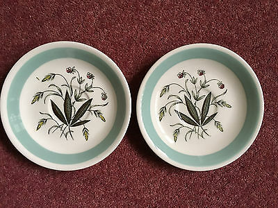 "Two Alfred Meakin/Crown Goldendale 'Tea saucers- 5.75"" Dia."