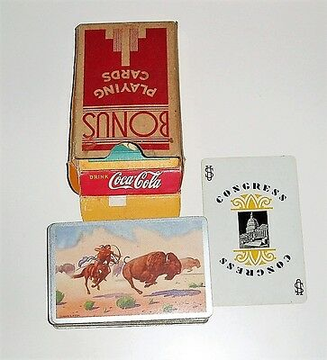 "Vintage ""secret"" Coca Cola advert Playing cards"