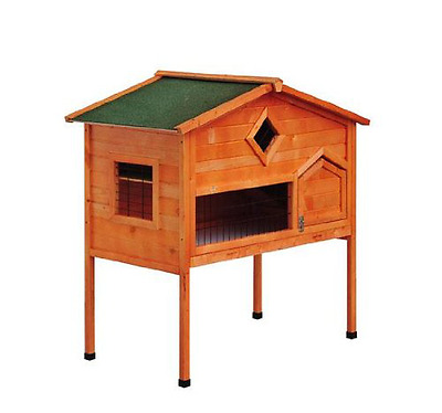 PawHut 2 Storey Wooden Rabbit Hutch Chicken Coop Pet House, Wood