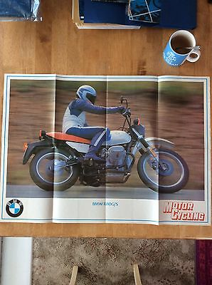 BMW R80 G/S Sales Brochure Poster